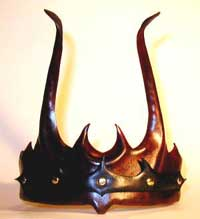 sculpted leather crown - for Ren Faires, LARP, SCA, etc.